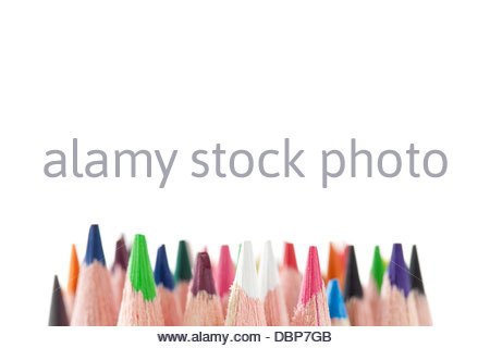 coloring pencil tip - Stock Photo