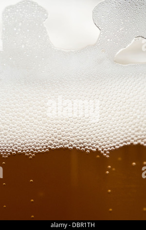 Close up of beer bubbles in the glass - Stockfoto