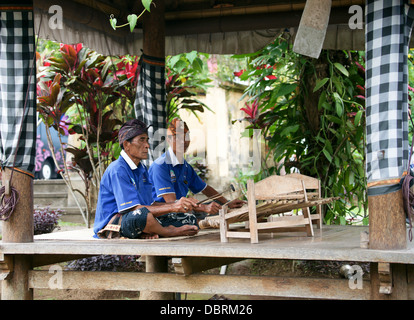 Men playing gambang kayu - Stock Photo