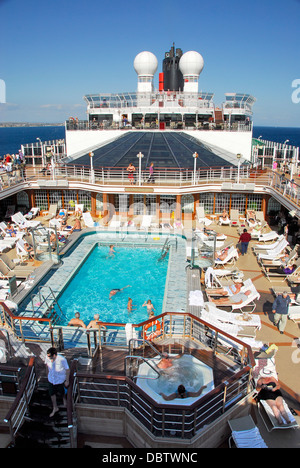 Swimming Pool On The Cunard Line Queen Elizabeth Ship Stock Photo Royalty Free Image 58939263