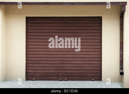 Garage wall with door background texture - Stock Photo