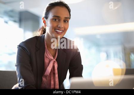 Portrait of confident businesswoman - Stock Photo