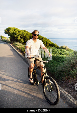 Man on bicycle - Stock Photo