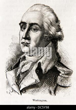 George Washington February 22, 1732 O S  February 11, 1731- December 14, 1799 served as the first President of the - Stock Photo