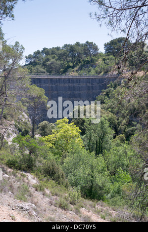 the zola dam at le tholonet near aix en provence france stock photo royalty free image. Black Bedroom Furniture Sets. Home Design Ideas