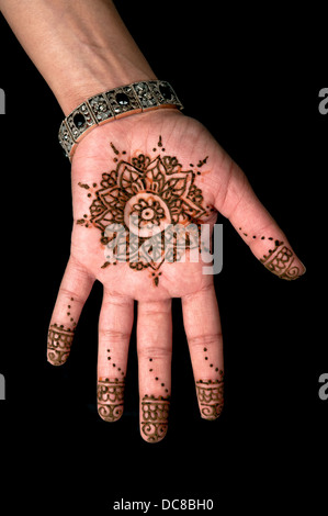 Henna - Mehendi tattoo - body art - Stockfoto