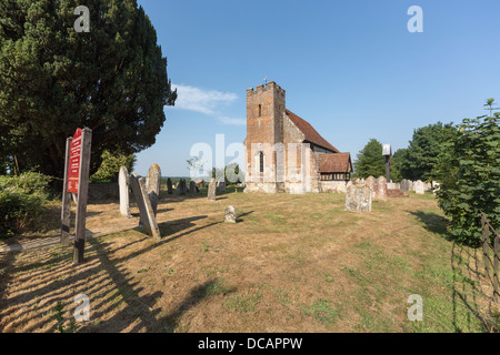 Church of St John The Baptist, North Baddesley near Romsey in diocese of Winchester, Hampshire, England - Stock Photo