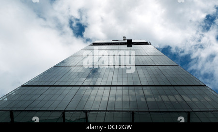 A low angle view of Leadenhall Building or cheesegrater cheese grater at 122 Leadenhall Street in City of London - Stock Photo