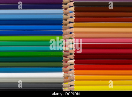 full frame pattern made with lots of colorful pencils - Stockfoto