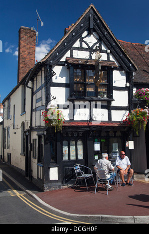 Ye Olde Anchor Inn, Upton-upon Severn, Worcestershire, England - Stock Photo
