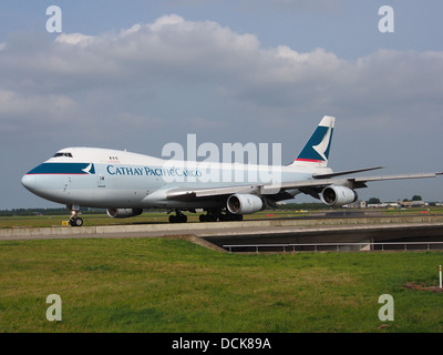 B-HUQ Cathay Pacific Boeing 747-467F - cn 34150 taxiing 14july2013 pic-005 - Stock Photo