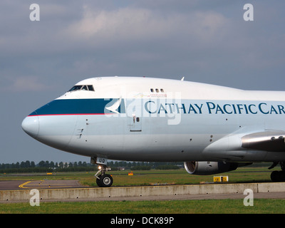 B-HUQ Cathay Pacific Boeing 747-467F - cn 34150 taxiing 14july2013 pic-006 - Stock Photo