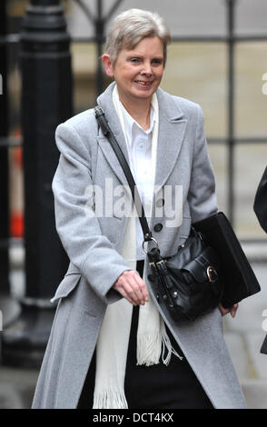 Margaret Watson arrives to give evidence at The Leveson Inquiry at The Royal Courts of Justice on November 22, 2011 - Stock Photo