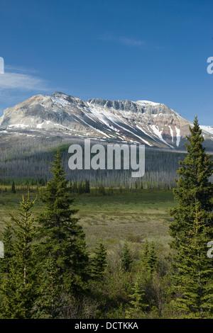 SOFA MOUNTAIN WATERTON LAKES NATIONAL PARK ALBERTA CANADA - Stock Photo