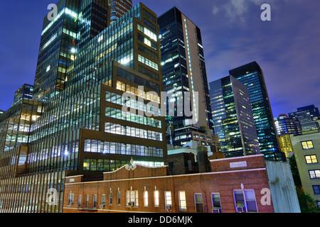 Office buildings in midtown Manhattan. - Stock Photo