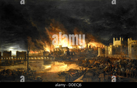 The Great Fire of London, 2-5 September 1666 - Stockfoto