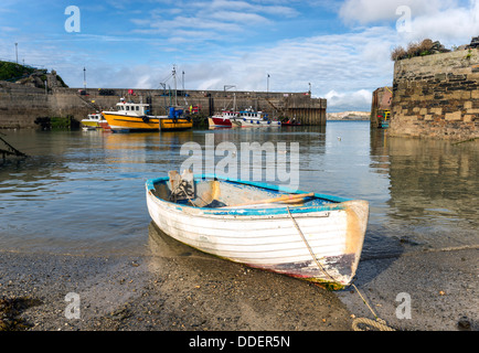 Fishing boats at Newquay harbour in Cornwall. - Stock Photo