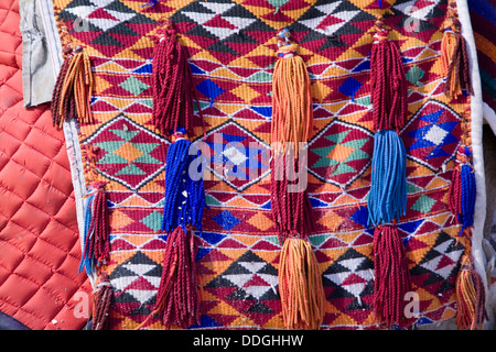 Detail of a camel saddle, seen at the Pyramids of Giza, near Cairo, Egypt. - Stockfoto