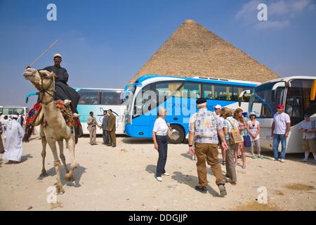 The great Pyramids of Giza, near Cairo, Egypt - Stockfoto