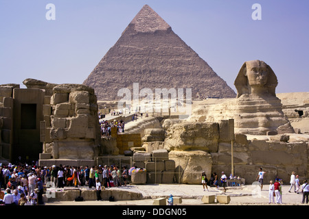 The great Sphinx and the Pyramids of Giza, Cairo, Egypt - Stockfoto