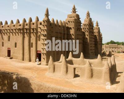 Great Mosque. Djenné. Mopti region. Niger Inland Delta. Mali. West Africa. - Stock Photo