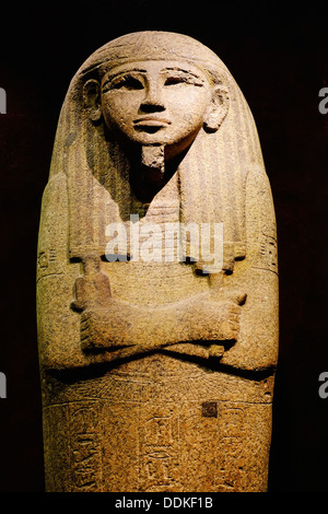 Italy, Piedmont, Turin, Egyptian museum, Sarcophagus Lid - Stock Photo