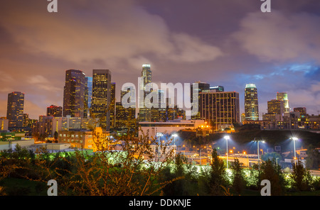 Los Angeles at night - Stock Photo