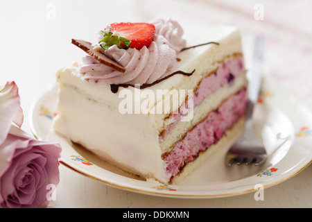 slice of layered cake - Stock Photo