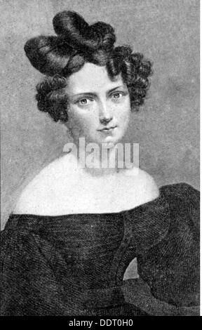 Schroeder-Devrient Wilhelmine 6.12.1804 - 26.1.1860 German singer portrait lithograph 19th century 19th century - Stock Photo