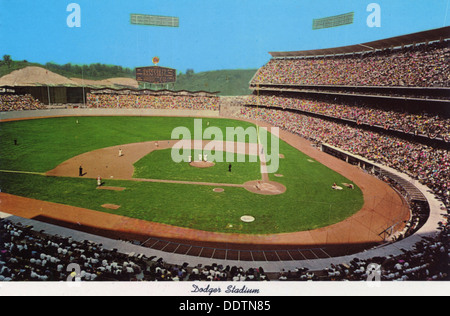 Dodger Stadium, Los Angeles, California, USA, 1970. - Stock Photo