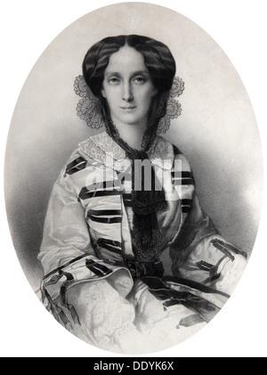 Tsarina Maria Alexandrovna of Russia, 1860. Artist: Andrei Deniere - Stock Photo