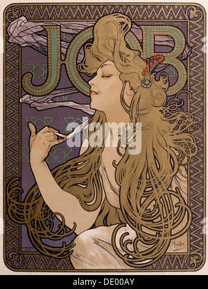Poster for 'Job' tissue paper, 1897. Artist: Alphonse Mucha - Stock Photo