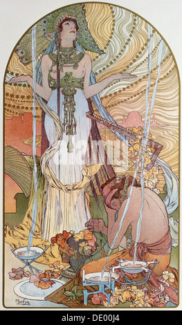 'Salambo', 1897.  Artist: Alphonse Mucha - Stock Photo