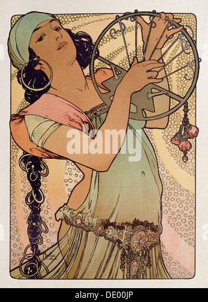 'Salome', 1897.  Artist: Alphonse Mucha - Stock Photo