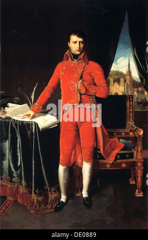 'Napoleon Bonaparte as First Consul of France', 1803-1804.  Artist: Jean-Auguste-Dominique Ingres - Stock Photo