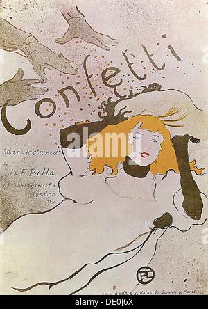 'Confetti', 1893.  Artist: Henri de Toulouse-Lautrec - Stock Photo