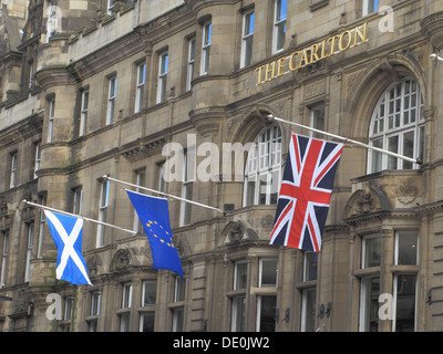 The Carlton Hotel, North Bridge, Edinburgh, Scotland, UK - Stock Photo