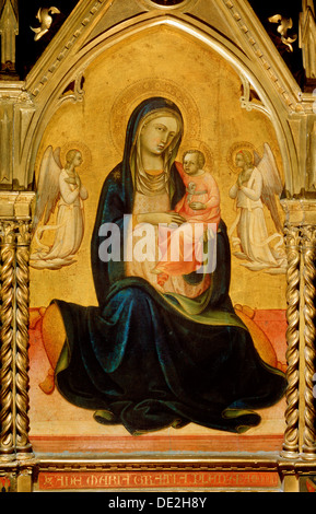 'The Virgin and Child with Angels (Madonna of Humility)', c1408-c1410. Artist: Lorenzo Monaco - Stock Photo