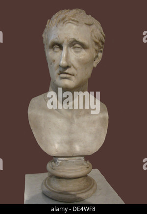 Bust of Menander. (Roman copy of Greek statue by Kephisodotos and Timarchos), 4th century BC. Artist: Art of Ancient - Stockfoto