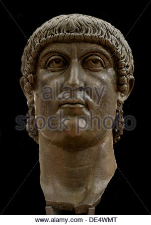 Constantine the Great (Head of Constantine's colossal statue), c. 313-324. Artist: Classical Antiquities - Stockfoto