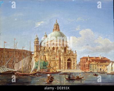 'The Santa Maria della Salute Church', 19th century. Artist: Victor Adam - Stock Photo