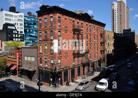Old Building at 10th Avenue, West 17th Street, Manhattan, New York City, New York, USA - Stock Photo