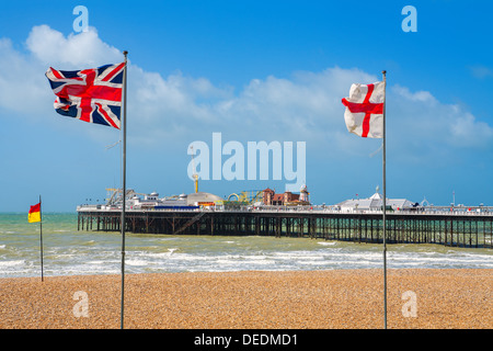 Brighton Pier. UK - Stock Photo