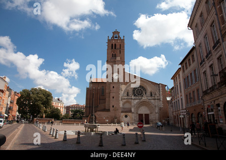Toulouse France cathedral Saint Etienne Church - Stock Photo