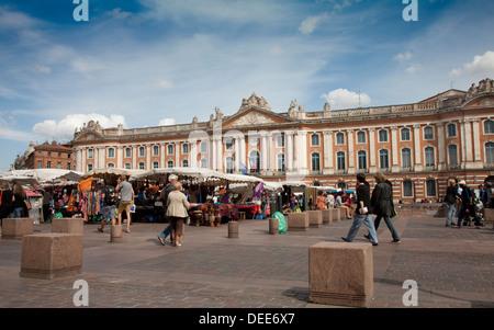 Toulouse France Place du Capitole  Midi Pyrenees region - Stock Photo