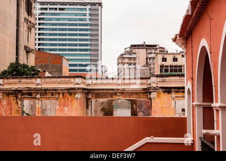 Africa, Angola, Luanda. View of the Grande Hotel. - Stock Photo