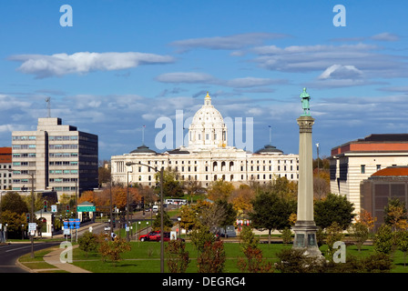 Minnesota State Capitol building, Saint Paul, Minnesota, USA - Stock Photo
