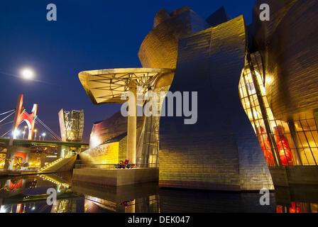 Guggenheim Museum, Bilbao. Biscay, Basque Country, Euskadi, Spain - Stock Photo
