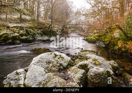 river brathay,elter water,lake district, cumbria, england, uk, europe - Stock Photo