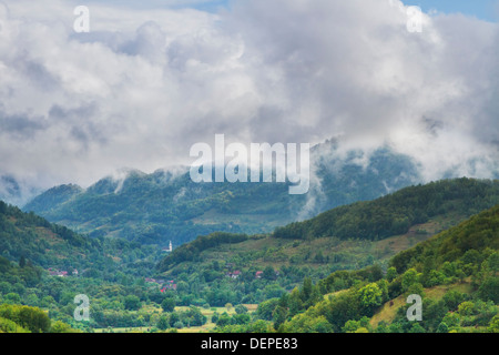 Summer landscape in Apuseni Mountains-Romania - Stock Photo